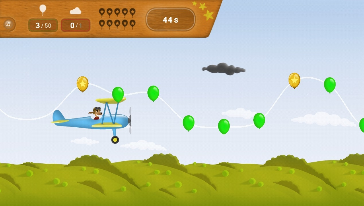 GenuSport App-Spiel-Doppeldeckerflug